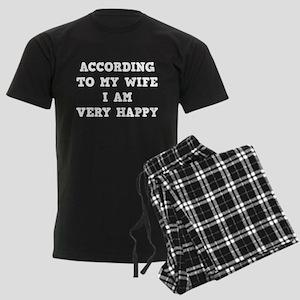 According To My Wife Men's Dark Pajamas