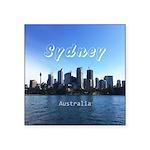 "Sydney Square Sticker 3"" x 3"""