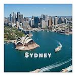"Sydney Square Car Magnet 3"" x 3"""