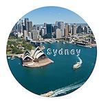 Sydney Round Car Magnet