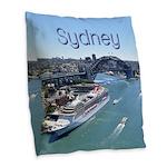 Sydney Burlap Throw Pillow