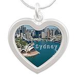 Sydney Silver Heart Necklace
