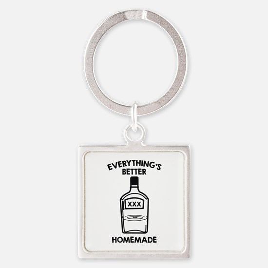Everything's Better Homemade Square Keychain
