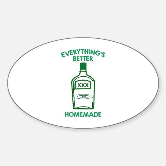 Everything's Better Homemade Sticker (Oval)