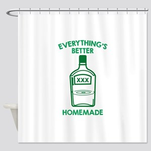 Everything's Better Homemade Shower Curtain