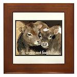 Not Food- Cows Framed Tile