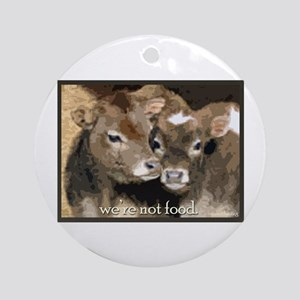 Not Food- Cows Ornament (Round)