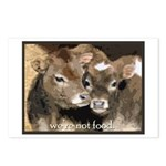 Not Food- Cows Postcards (Package of 8)