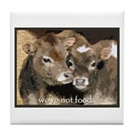 Not Food- Cows Tile Coaster