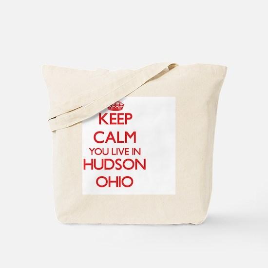 Keep calm you live in Hudson Ohio Tote Bag