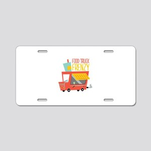 Food Truck Frenzy Aluminum License Plate