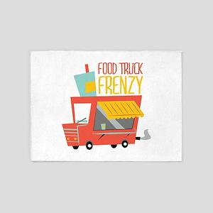 Food Truck Frenzy 5'x7'Area Rug