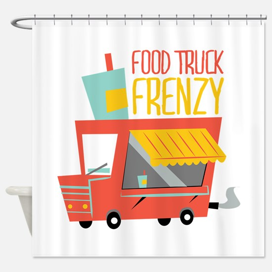 Food Truck Frenzy Shower Curtain