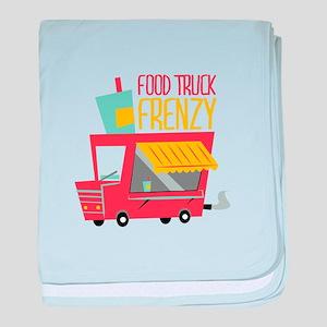 Food Truck Frenzy baby blanket