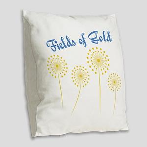 Fields Of Gold Burlap Throw Pillow