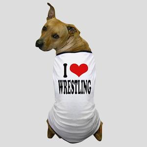 I Love Wrestling Dog T-Shirt
