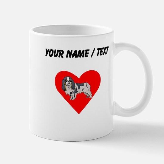 Custom Cavalier King Charles Spaniel Heart Mugs