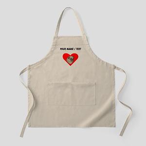 Custom Pug Heart Apron