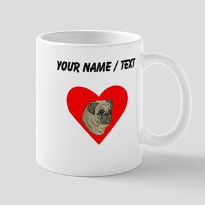 Custom Pug Heart Mugs