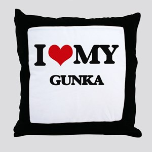 I Love My GUNKA Throw Pillow