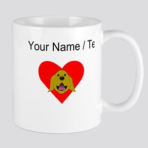 Custom Golden Retriever Heart Mugs