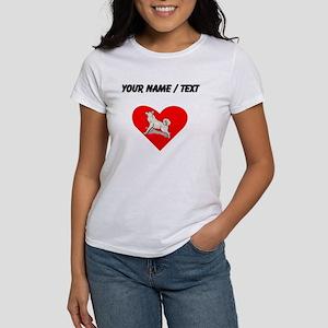 Custom Alaskan Malamute Heart T-Shirt