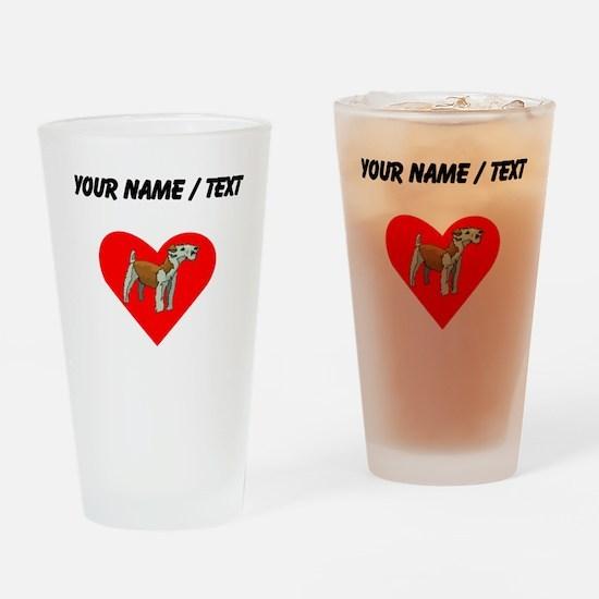 Custom Irish Terrier Heart Drinking Glass