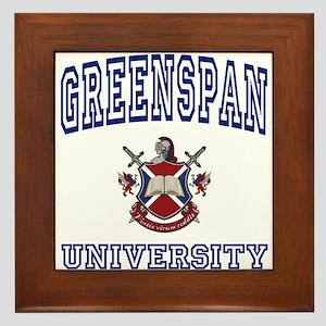 GREENSPAN University Framed Tile