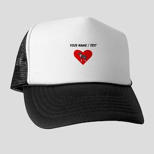 Custom Italian Greyhound Heart Trucker Hat