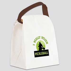 I RELISH PICKLEBALL Canvas Lunch Bag
