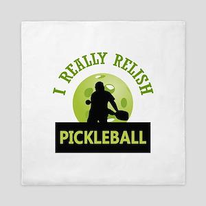 I RELISH PICKLEBALL Queen Duvet