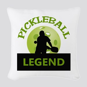 PICKLEBALL LEGEND Woven Throw Pillow