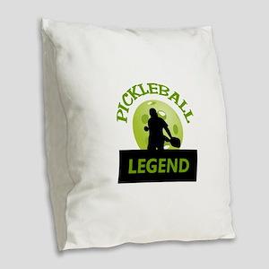 PICKLEBALL LEGEND Burlap Throw Pillow