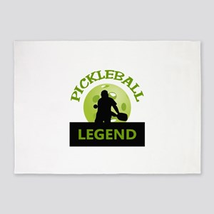 PICKLEBALL LEGEND 5'x7'Area Rug
