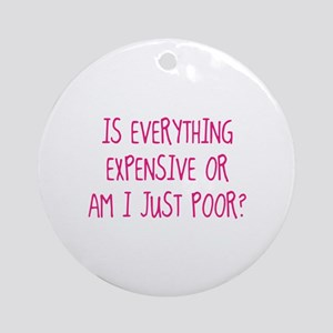 Is Everything Expensive Ornament (Round)