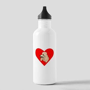 Poodle Heart Water Bottle