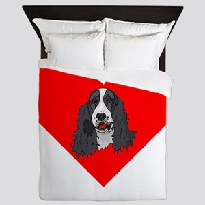 English Springer Spaniel Heart Queen Duvet