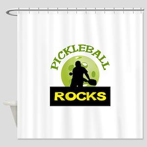 PICKLEBALL ROCKS Shower Curtain