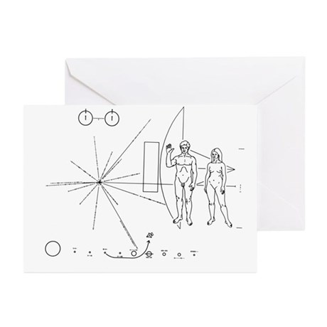 Pioneer 10 Plaque Greeting Cards (Pkg 6)