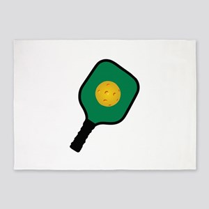 PICKLEBALL AND PADDLE 5'x7'Area Rug