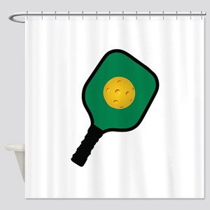 PICKLEBALL AND PADDLE Shower Curtain