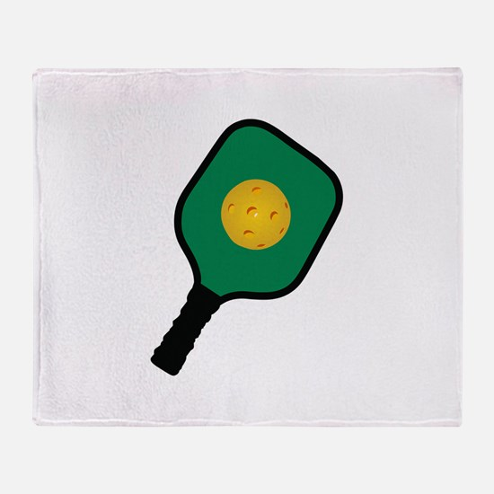 PICKLEBALL AND PADDLE Throw Blanket