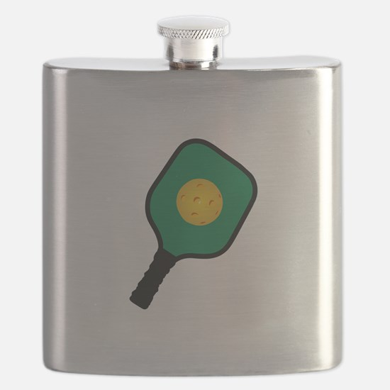 PICKLEBALL AND PADDLE Flask