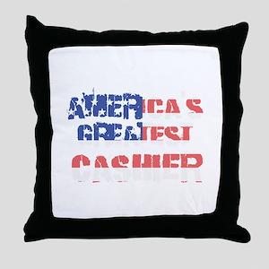 America's Greatest Cashier Throw Pillow