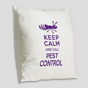 Funny Exterminator Burlap Throw Pillow