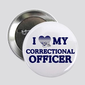 Love Correctional Officer Button
