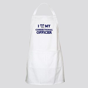 Love Correctional Officer BBQ Apron