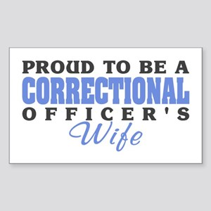 Correctional Officers Wife Rectangle Sticker
