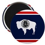 Wyoming State Flag on Magnet
