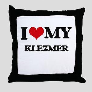 I Love My KLEZMER Throw Pillow